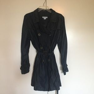 57ec2bc558b2 Liz Claiborne Denim Chambray Trench Coat Dress